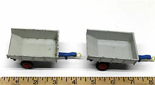 2 Vintage Lesney Matchbox King Size No.11 Whitlock Trailers Hydraulic Die Cast