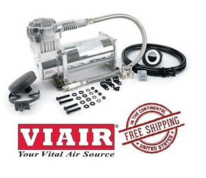 VIAIR 200PSI 1.58CFM 300 Series 380C 12V Compressor Universal Fit 38033 Chrome