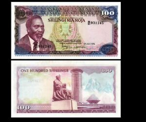 KENYA 100 SHILLINGS 1978 YEAR P 18 UNC
