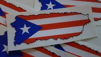 PUERTO RICO  FLAG DECAL STICKER x2