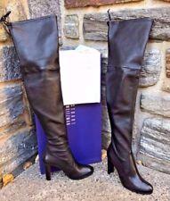 Stuart Weitzman NEW Highland Nero Black Leather Over Knee OTK Boot US 8M $899