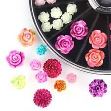 3D Resin Roses Acrylic Wheel Nail Art Decoration Artificial Flowers DIY Nail Art