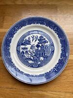 "Vintage BUFFALO CHINA Restaurant Ware BLUE WILLOW 9.5"" Plate"