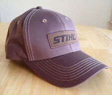 pretty nice 49f6c 99a5c Stihl All Brown Fabric Hat   Cap w Leather Patch Logo Adjustable
