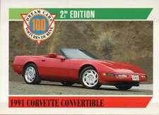 1991 Corvette Convertible, Dream Cars Trading Card, Automobile --- Not Postcard