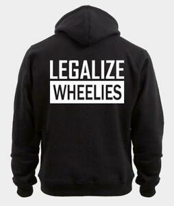 JH001 Legalize Wheelies Print Hoodie Back Various Colours