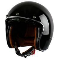 3/4 Open Face Helmet Motorcycle Street Riding DOT Vintage Classic M L XL XXL US