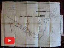 Straits of Magellan Patagonia South America 1773 Hawkesworth large detailed map