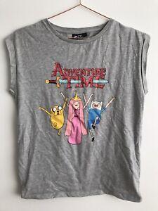 Adventure Time Short Sleeve Grey T-shirt Merch