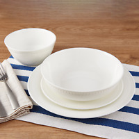 Mikasa Dinnerware 16-Piece Set Service For 4 Microwave And Dishwasher Safe Round