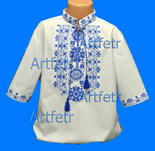 Tradition Ukrainian Embroidered Shirt men National Cross stitch XS-3XL