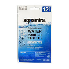 12 Count  Aquamira Water Purifier Purification Tablets Pills Chlorine Dioxide