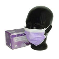 50 Stk OP-Mundschutz lavendel 3-lagig Vlies mit Nasenbügel und Ohrschlaufen