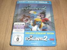 Die Schlümpfe 2 Exklusives Blu-Ray 3D Steelbook mit Hologramm-Karte (lenticular)
