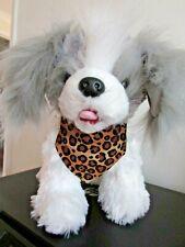 Limited Number Brown Leopard Dog or Cat Bandanna slide collar through top