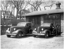 1937 New Michigan Pontiac  Police Cruisers 8 x 10 Photograph