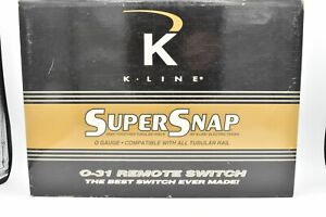 K-Line SuperSnap O-31 Righthand and Lefthand Remote Switch Tracks K-0763, K-0764