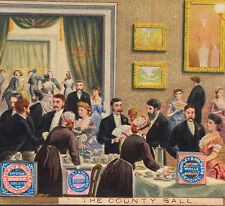 Huntley & Palmers Biscuit Country Ball Fancy Ballroom Dancing Advertising Card