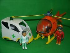 Fireman Sam _ Large Helicopter & Large Ambulance _ & Figures
