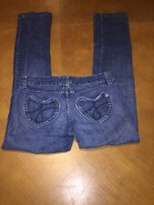 Juicy Couture  Kate Heart Back Pocket Denim Jeans Stretch Straight Size 30