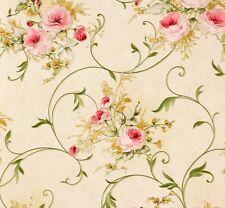 Tapete Romantica Blumen beige grün Glanz AS Creation 30420-3 (5,35€/1qm)