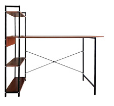 Computer,Study,Office,Laptop Desk with Storage Shelf, Wood and Industrial Metal