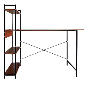 Computer study desk with storage self modern desk with steel frame