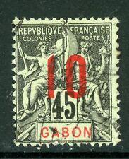 Gabon 1912 French Colony 10¢/45¢ Scott #79 VFU H782