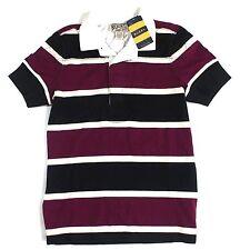 NEW Ralph Lauren Rugby Women's Cotton Purple / Black / White Striped Shirt S
