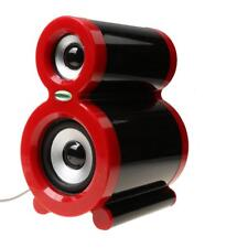 Multimedia Computer Speakers USB Powered Desktop Laptop Music Sound Box Red