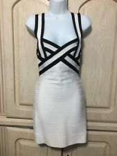 HERVE LEGER bandage Black And White dress S