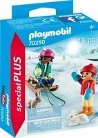 PLAYMOBIL Special Plus 70250 2 Mädchen Kinder mit Schlitten 2 Häschen NEU