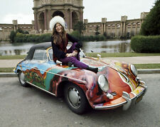 Rock Singer Songwriter JANIS JOPLIN w/ Car Glossy 8x10 Photo Artist Print Poster
