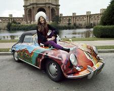 Rock Singer Songwriter Janis Joplin w/ Car Glossy 8x10 Photo Artist Print Poster