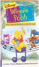 WINNIE THE POOH e LE CANZONI DEL BOSCO DEI 100 ACRI VHS DISNEY NUOVA SIGILLILATA