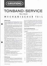 Grundig Service Manual für TK 6/E