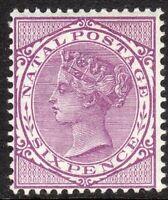 South Africa Natal 1874 reddish violet 6d crown CC perf 14 mint SG70