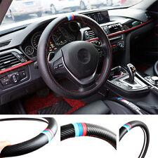 1Pcs Car Three Kinds Of Color M Power Black Carbon Fiber Vip Steering Wheel Wrap