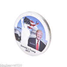 Hot American 45th President Donald Trump Silver Coin US White House Coin S5