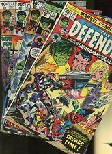 Defenders 26,27,75,76,77 * 5 Book Lot * Marvel Comics! Hulk! Hellcat! Strange!