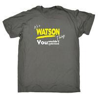Funny Novelty T-Shirt Mens tee TShirt - Watson V1 Surname Thing