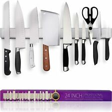 New listing  24 Inch Heavy-Duty Magnetic Knife Holder (Large Size) - Professional Knife Bar