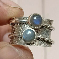 Labradorite Ring 925 Sterling Silver Spinner Ring Meditation Ring Jewelry mi5242
