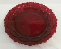 "Vintage Ruby Red Cape Cod Avon Plate 7 /14"" Diameter"