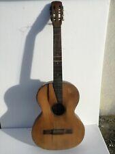 Chitarra classica d'epoca museale Ettore Bocciolini 6 corde 1930 noce abete