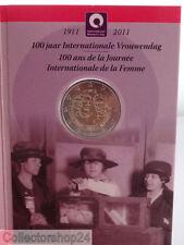 Coincard Belgium 2 Euro Card 100 Jaar Internationale Vrouwendag 2011