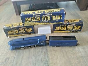 VINTAGE AMERICAN FLYER LINES 350 THE ROYAL BLUE B&O LOCOMOTIVE+TENDER PATS PEND.