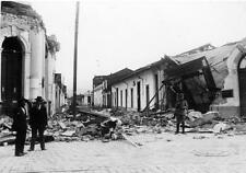 Photo. 1928. Talca, Chile.  Earthquake