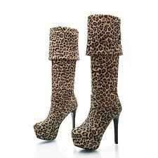 Women's Animal Print Pull On Boots