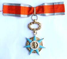 Médaille Croix Commandeur Ordre du Mérite SOCIAL Vermeil poinçons